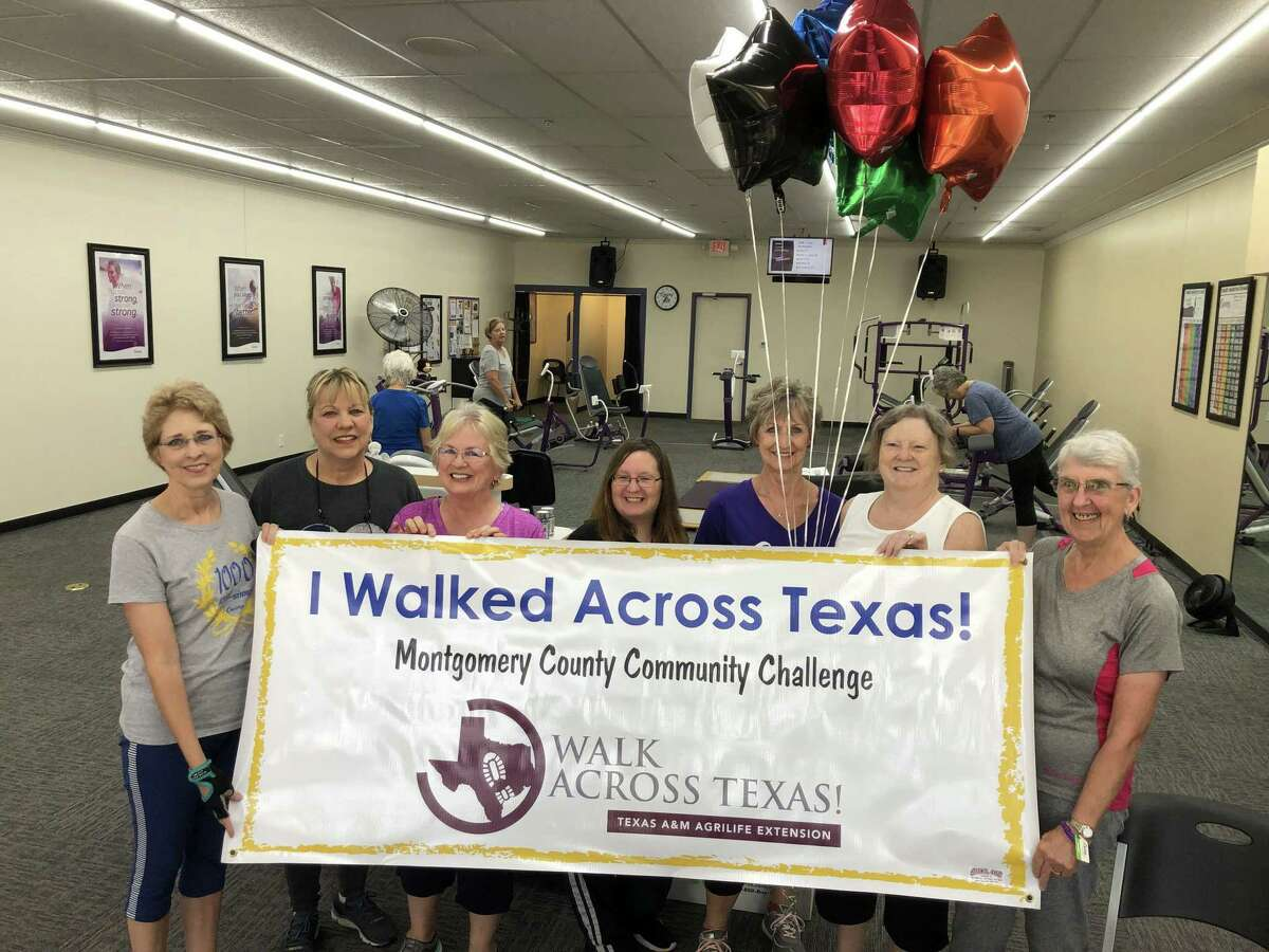 The 2021 Montgomery County Walk Across Texas Community Challenge currently is underway having kicked off on April 1. Walk Across Texas (WAT) is an eight-week program designed to help people of all ages establish the habit of regular physical activity. Register a team of up to eight people or sign up as an individual 1 to go the distance of 832 miles or the distance it would take to walk across Texas. Pictured is a group from Curves that participated in the 2019 event.