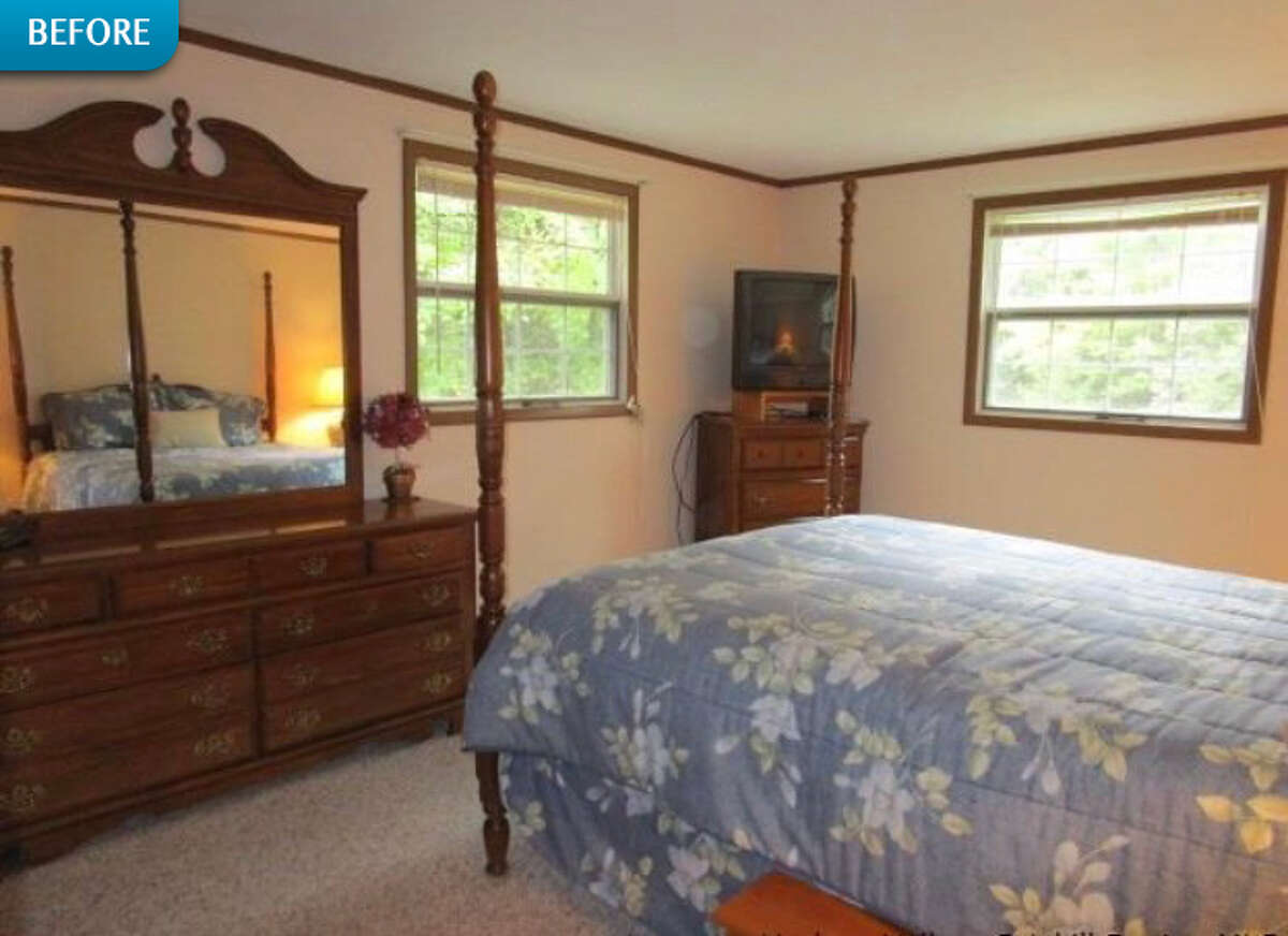 BEFORE: The home's second bedroom had good bones in terms of windows and a functioning layout.