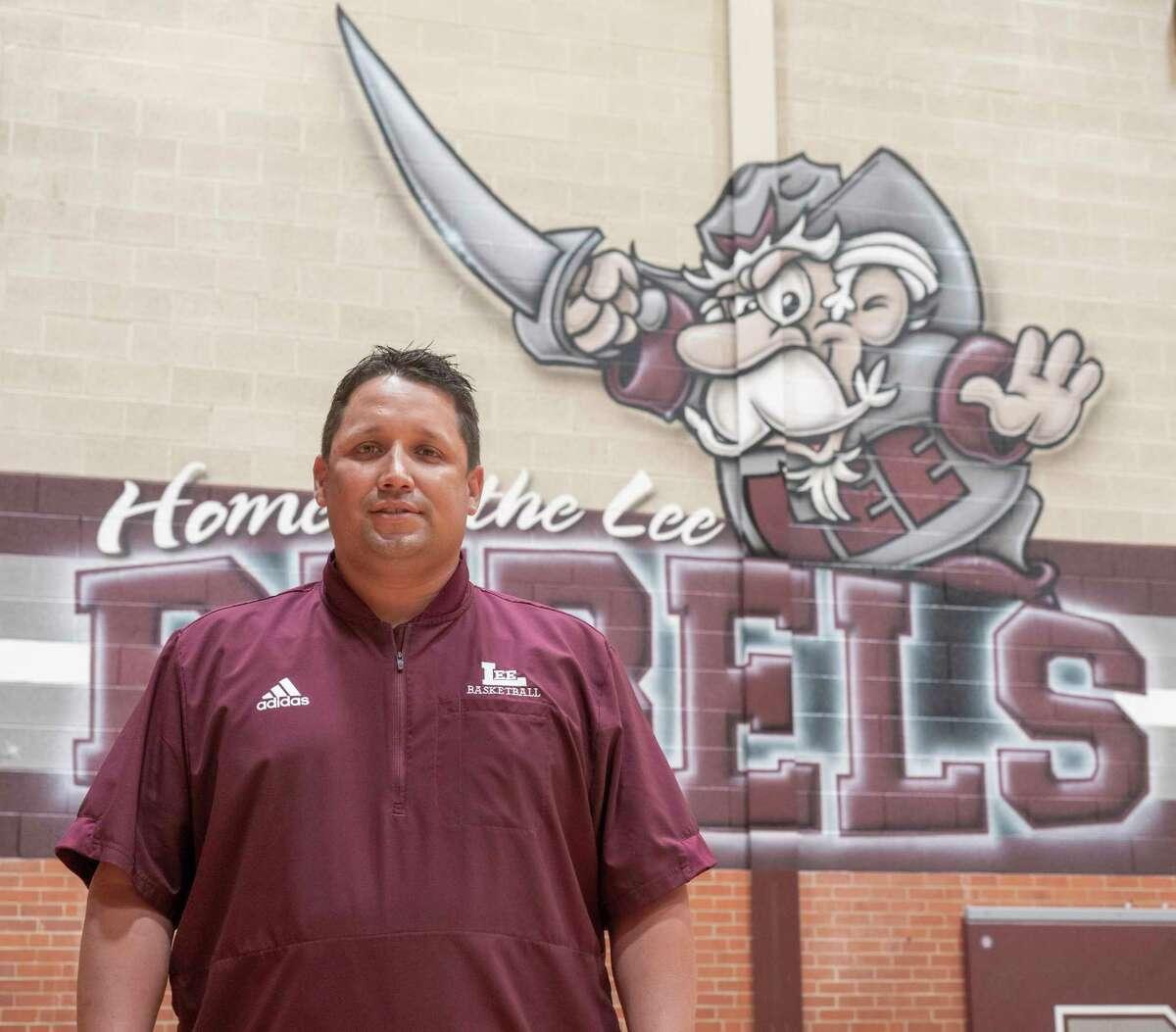 Lee High girls basketball coach, Alfred Acosta. 04/08/21 Tim Fischer/Reporter-Telegram