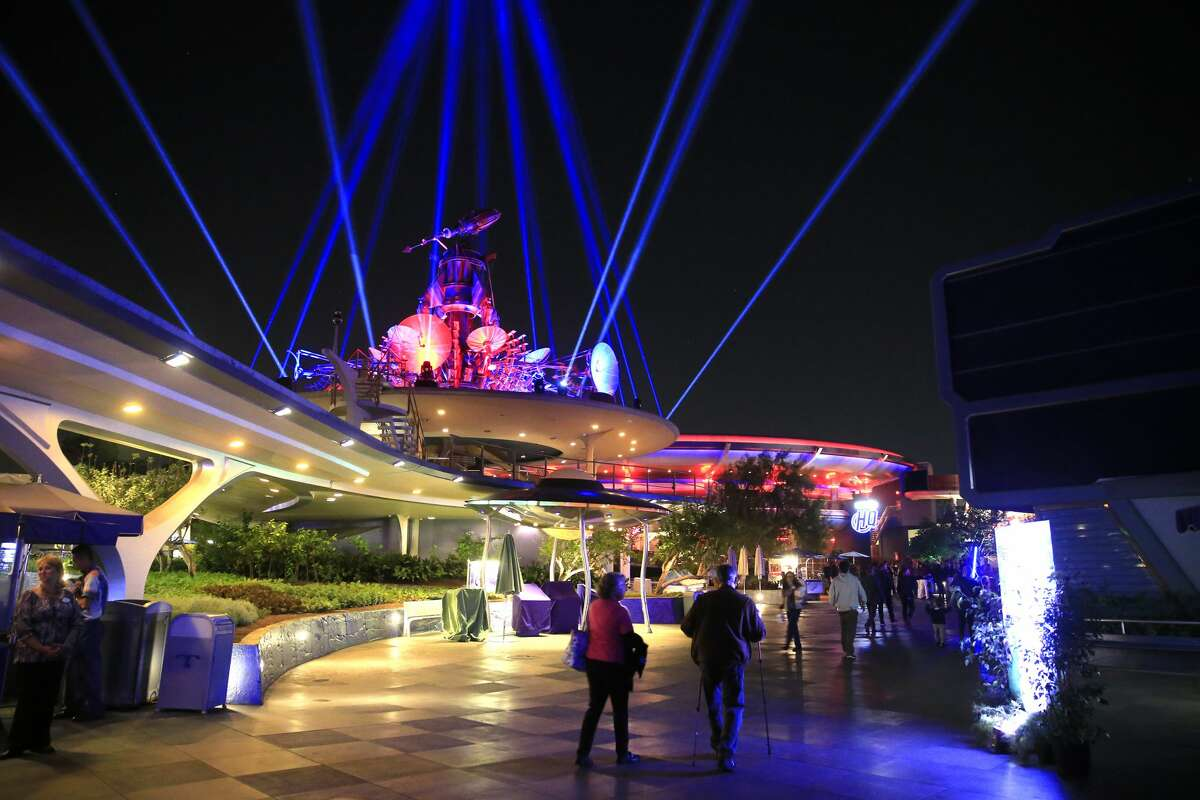 Media members get a preview of Season of The Force in the Tomorrowland area to celebrate