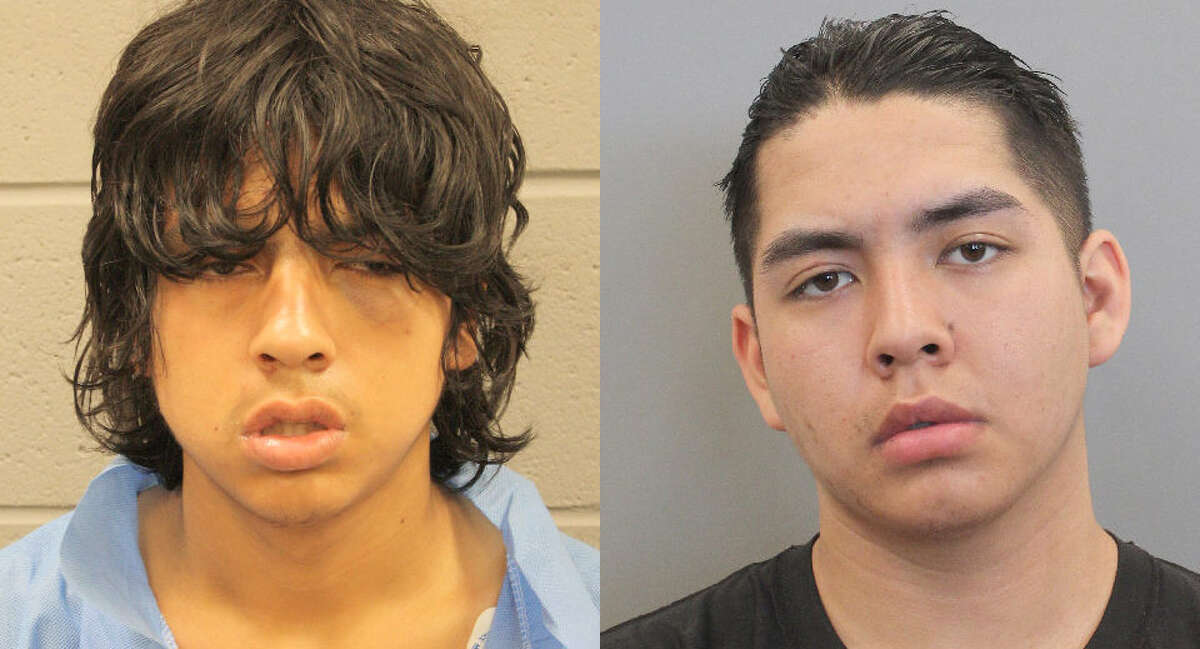 Christopher Paz, left, and Leroy Lopez, right, both age 17, have been charged with murder and tampering with evidence in connection with a body found Monday in east Harris County.