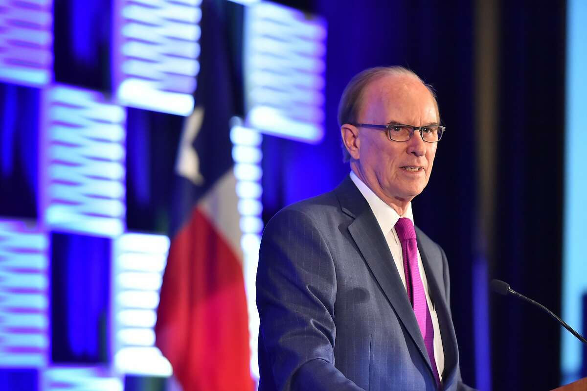 """Bexar County Judge Nelson Wolff gives his annual """"State of the County"""" address to the city's Chamber of Commerce luncheon Friday at the Grand Hyatt Hotel."""