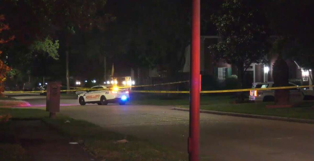 Two men were shot early Friday in a northwest Harris County drive-by shooting outside of a residence.
