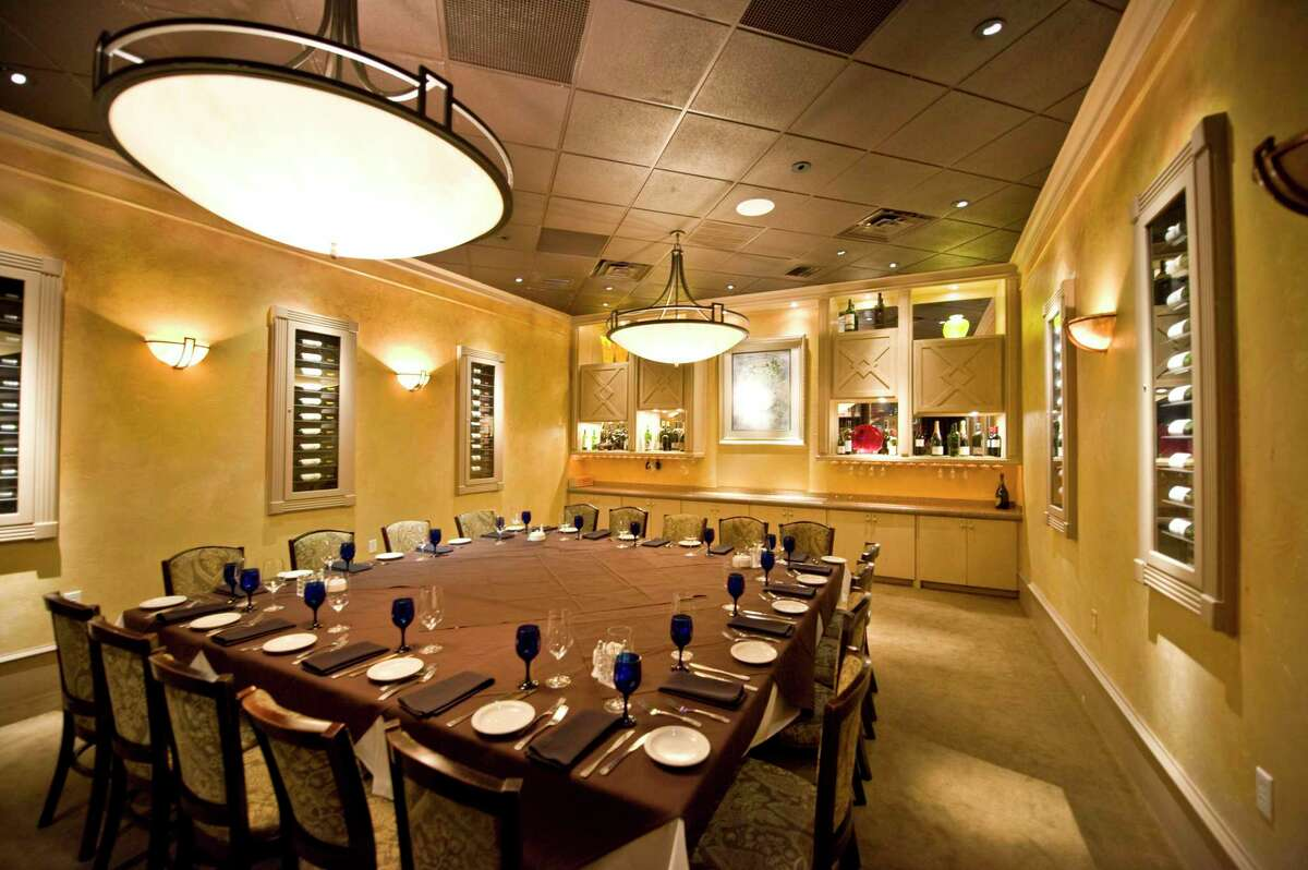 The interior of a private dining room at Perry's Grille and Steakhouse in The Woodlands. The popular chain, which is one of the older continuously operated restaurants in The Woodlands at two decades of service, had plans to add an outdoor, covered dining patio approved on Wednesday night, an effort to respond to changing customer preferences in the coronavirus pandemic.