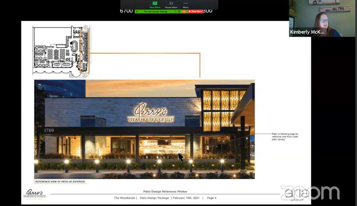 More changes to the local dining scene are on the horizon, as Perry's Steakhouse & Grille in The Woodlands plans to add a patio as part of larger interior renovations. The popular chain, which is one of the older continuously operated restaurants in The Woodlands at two decades of service, had plans to add an outdoor, covered dining patio approved on Wednesday night, an effort to respond to changing customer preferences in the coronavirus pandemic. Other interior renovations at the 6700 The Woodlands Parkway restaurant were not disclosed as they are not under the authority of the DSC, which mainly handles exterior elements.