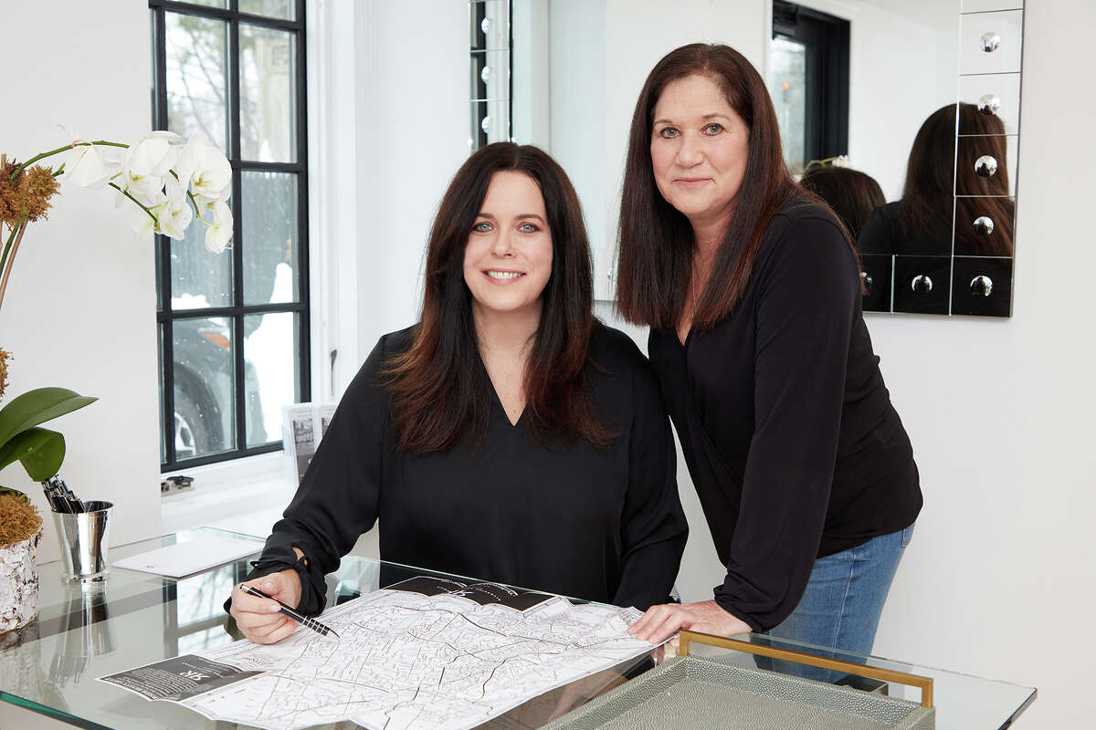 """Liz Videler (left) and Judi Lake (right), a realty team under the name of Lake Videler Homes that is part of the Riverside Realty Group in Westport, Conn., say that have closed deals during the COVID-19 pandemic that were sold """"sight unseen."""""""