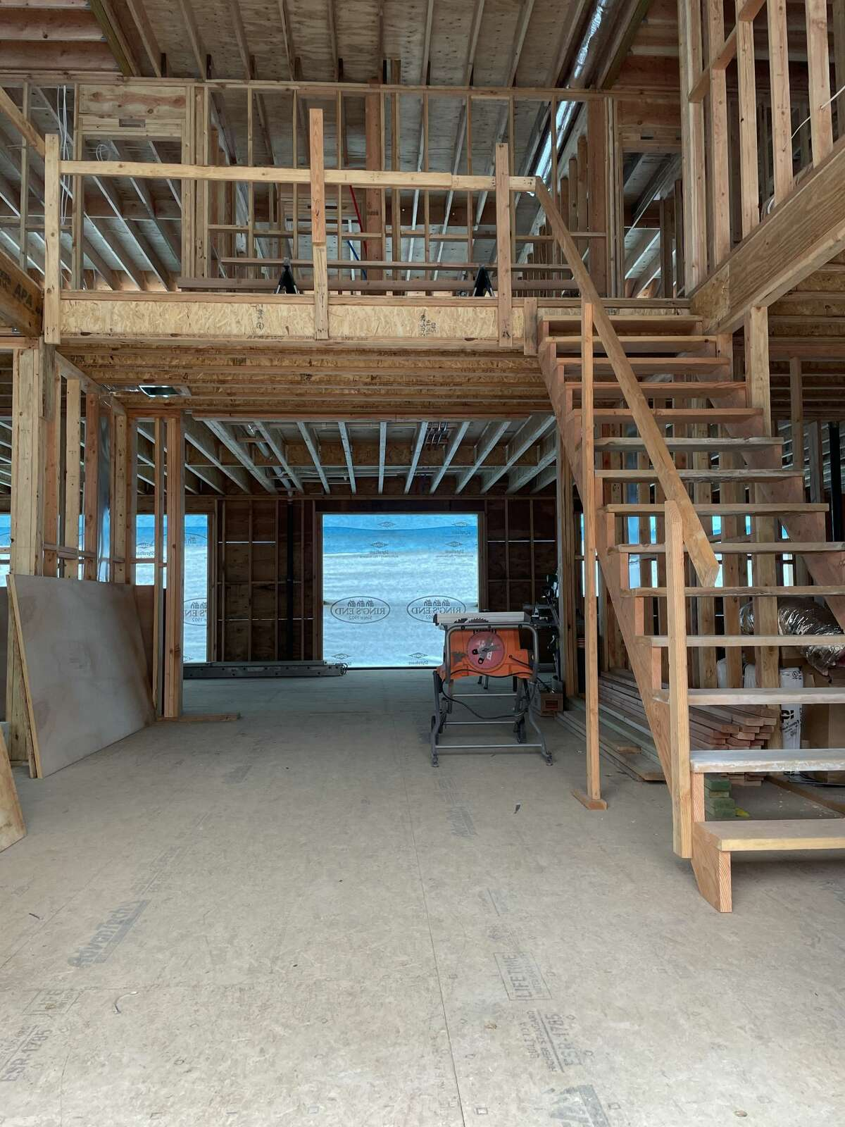The interior of the home at 15 Salem Road in Weston, Conn. that is currently under construction and being sold by Judi Lake and Liz Videler, part of the Riverside Realty Group in Westport, Conn.