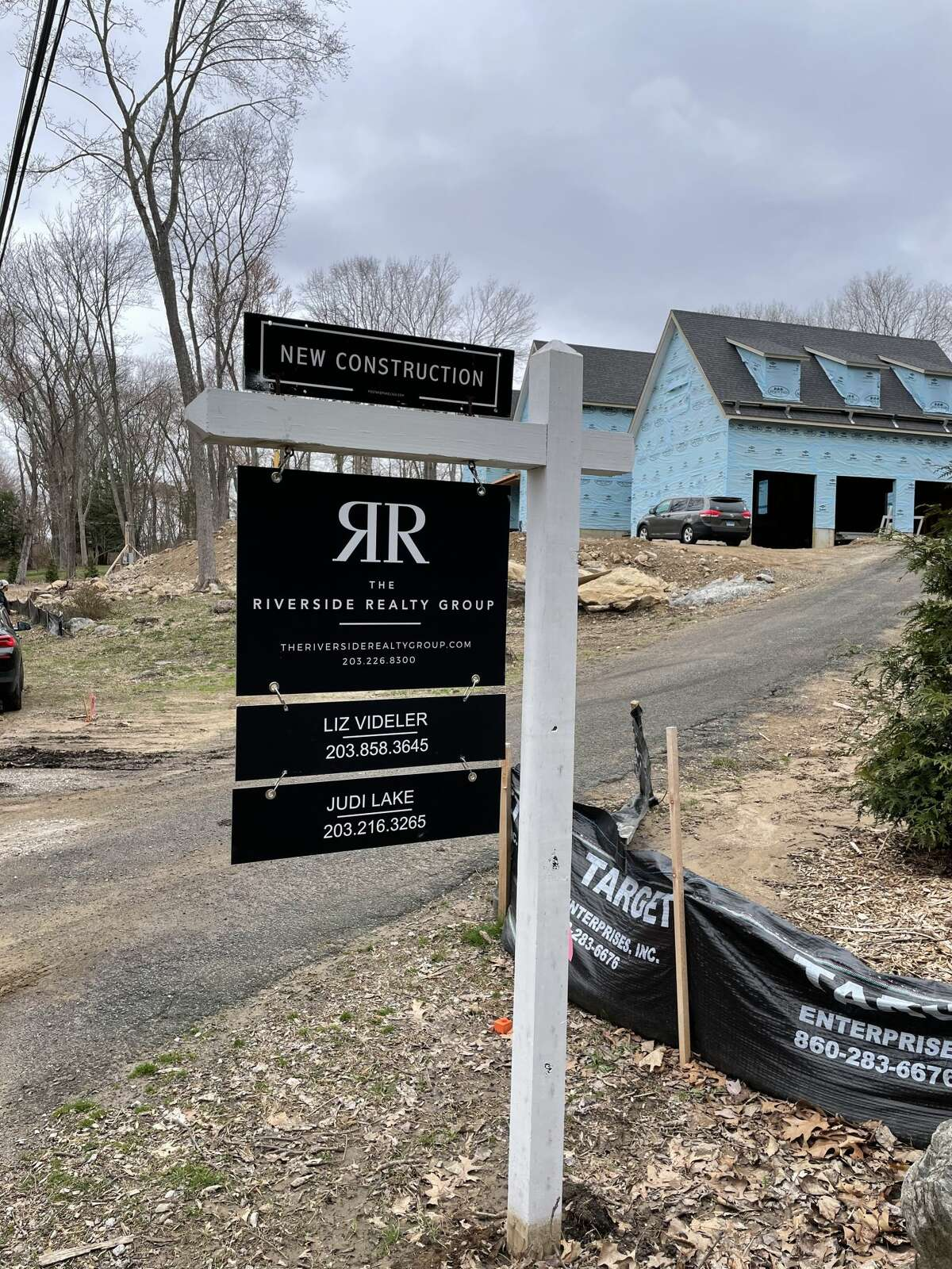 The exterior of the home at 15 Salem Road in Weston, Conn. that is currently under construction and being sold by Judi Lake and Liz Videler, part of the Riverside Realty Group in Westport, Conn.
