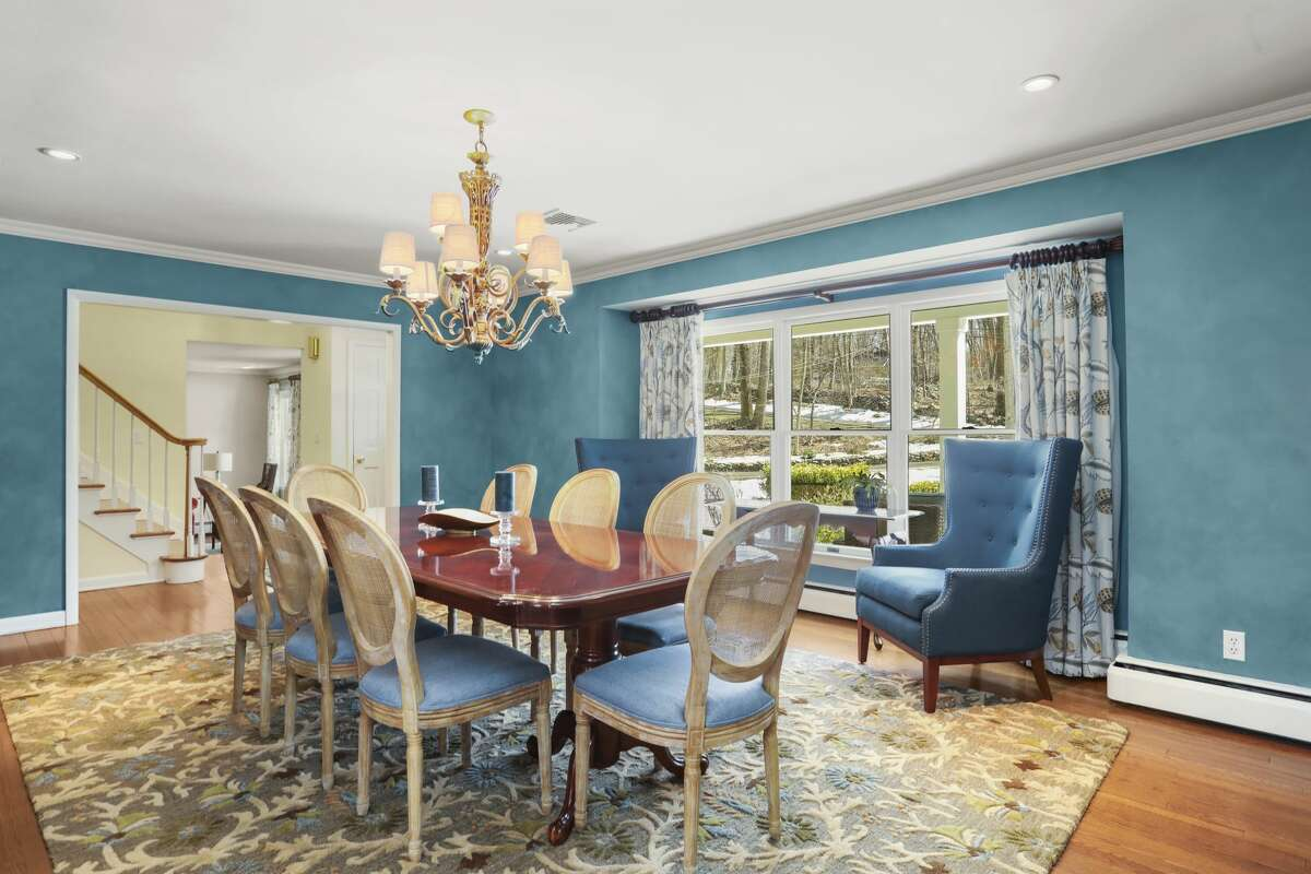 Dining room at 14 Wood Hill Road, Weston.