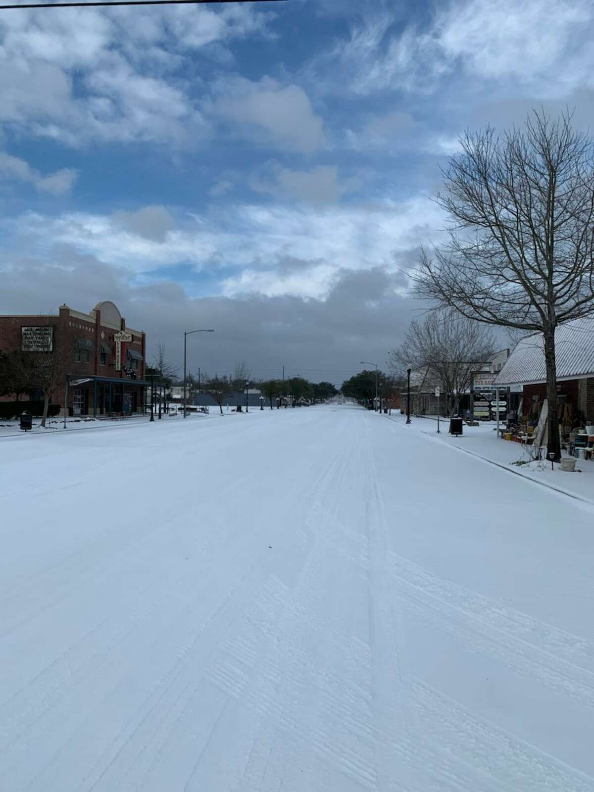 Downtown Tomball during the ice storm the week of Feb. 15.
