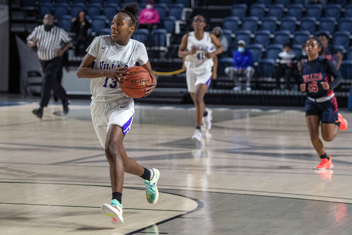 Jersey Village High School senior Gia Adams was voted the District 17-6A girls' basketball Defensive Player of the Year.