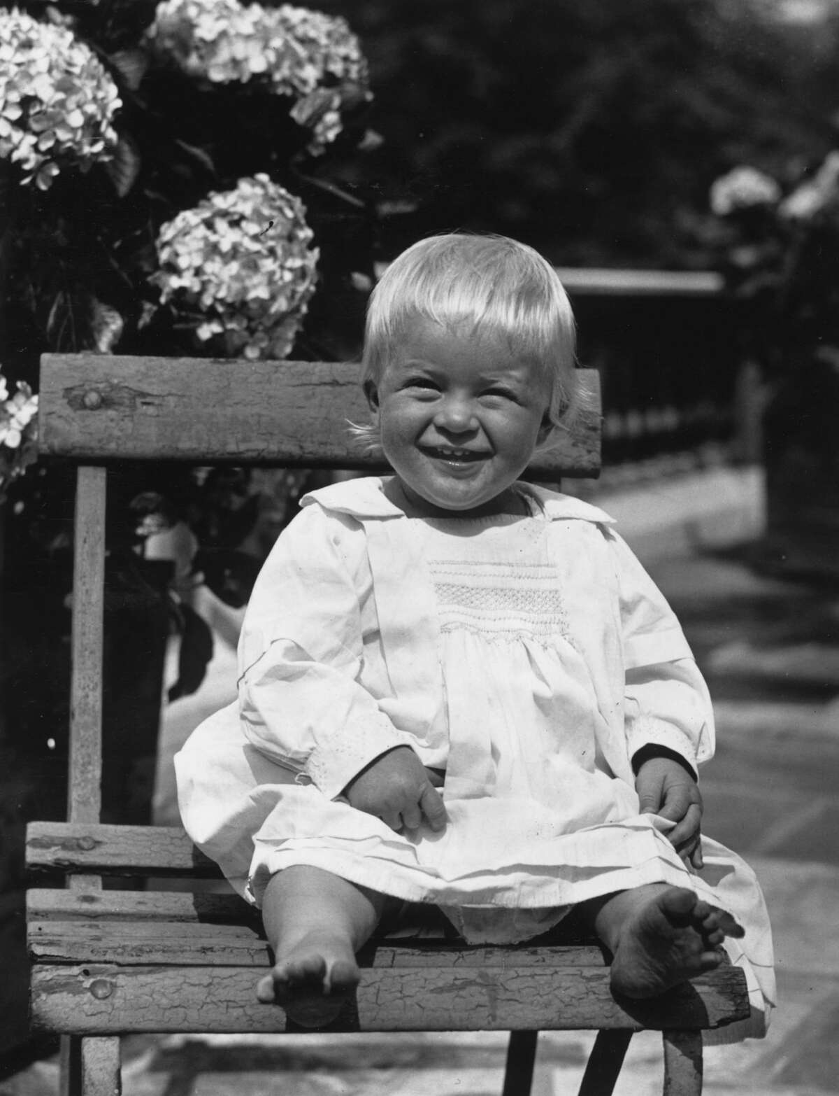 Prince Philip of Greece, later Duke of Edinburgh, as a toddler, July 1922. (Photo by Hulton Archive/Getty Images)