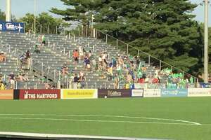 The Hartford Athletic kicked off its 2020 home schedule with 3-1 win over Loudoun United FC. Dillon Stadium was limited to 25 percent capacity.