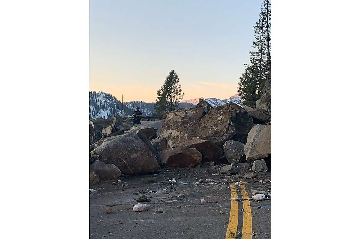 A massive rockslide has shut down part of US-50 near South Lake Tahoe.