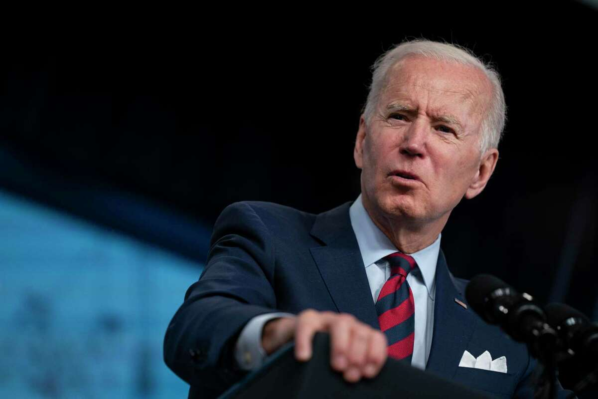 President Joe Biden speaks during an event on the American Jobs Plan in the South Court Auditorium on the White House campus in Washington on April 7, 2021. (AP Photo/Evan Vucci, File)