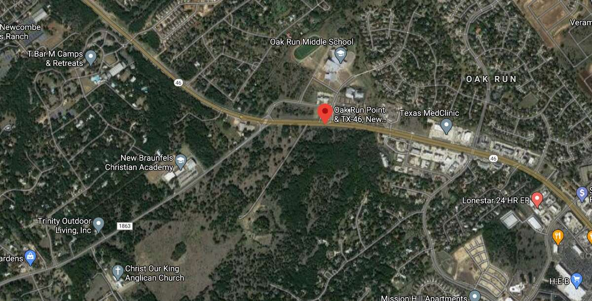 A motorcyclist died Thursday after he was hit by multiple cars following a crash on a highway in New Braunfels. The map shows the approximate location of the incident.