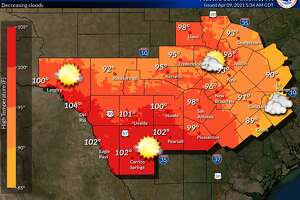 Another day of near record temperatures set for the San Antonio area.