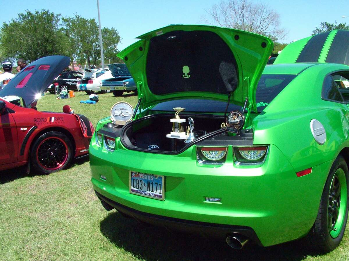 This shiny green racer won one of the top car show awards at HoboFest in May 2013. More than 100 antique and modified cars, ranging from 1917 to 2014 models, were on display at the festival in Kirby's Friendship Park. Mayoral candidate Chris Garza wants to bring back the annual family event, sponsored by the Kirby Volunteer Fire Department for many years.