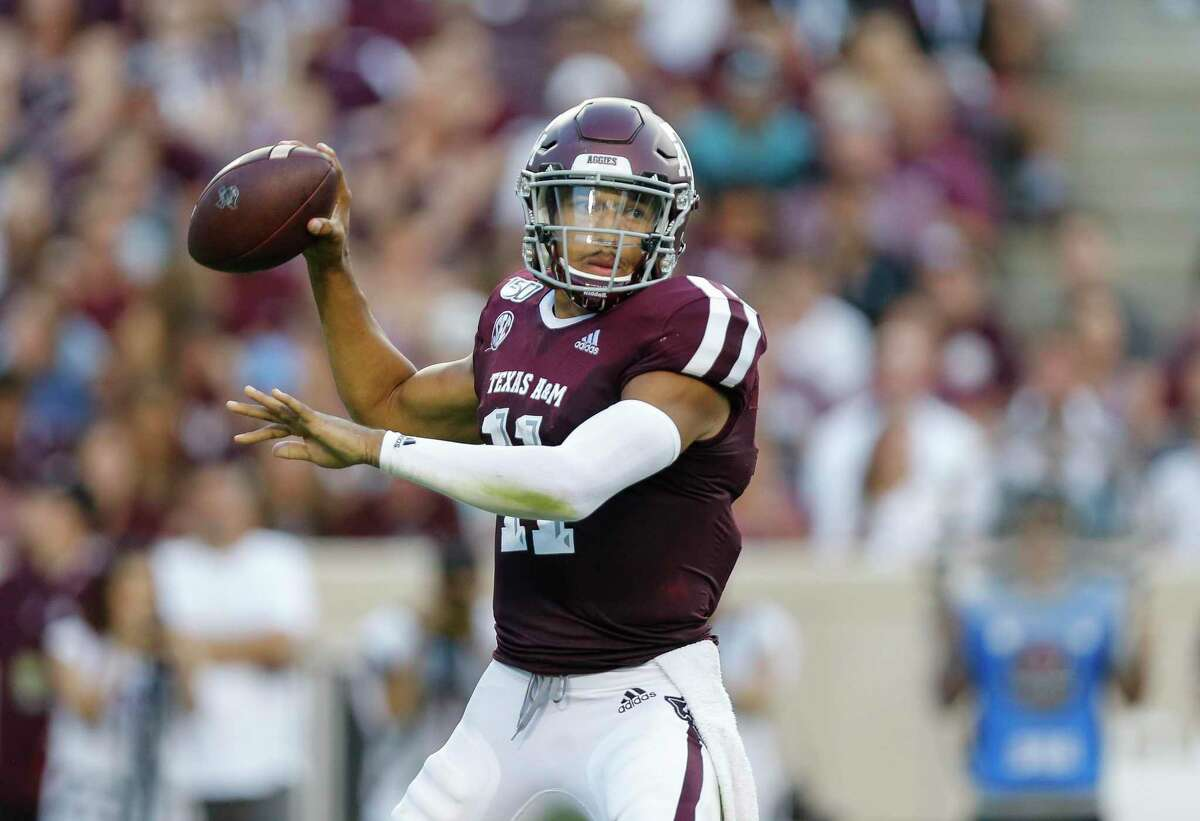 Texas A&M quarterback Kellen Mond could be one of the next-tier quarterbacks in the NFL draft that could give Texans an option at pick No. 67.