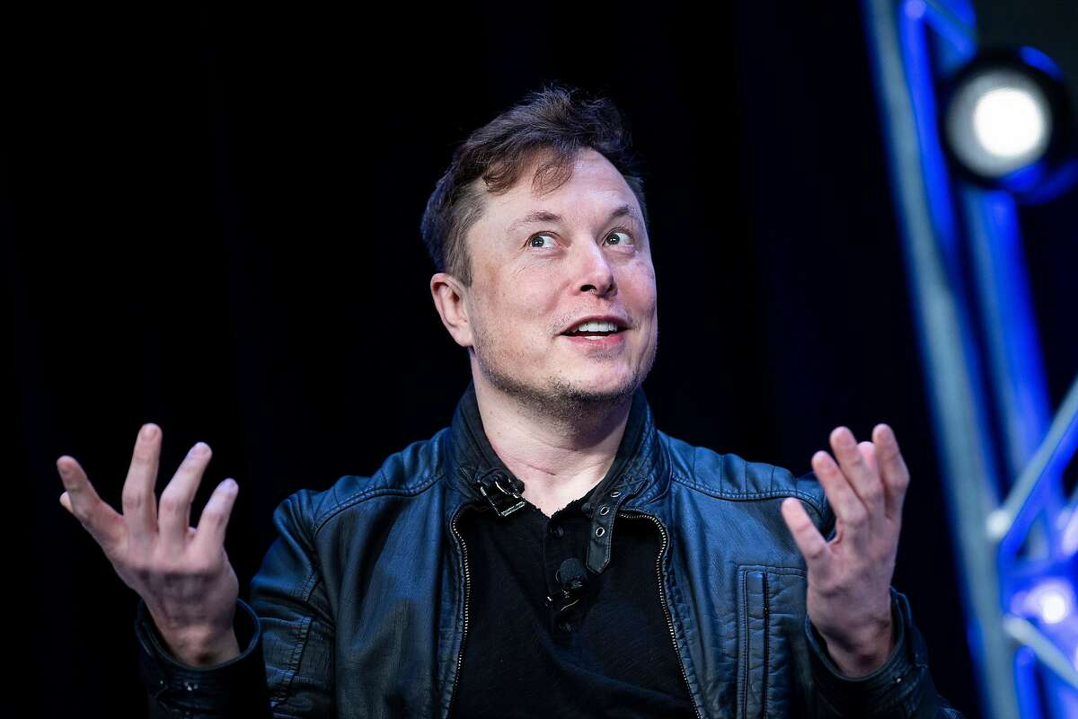 File photo of Elon Musk, founder of SpaceX, speaking during Satellite 2020 at the Washington Convention Center on March 9, 2020.