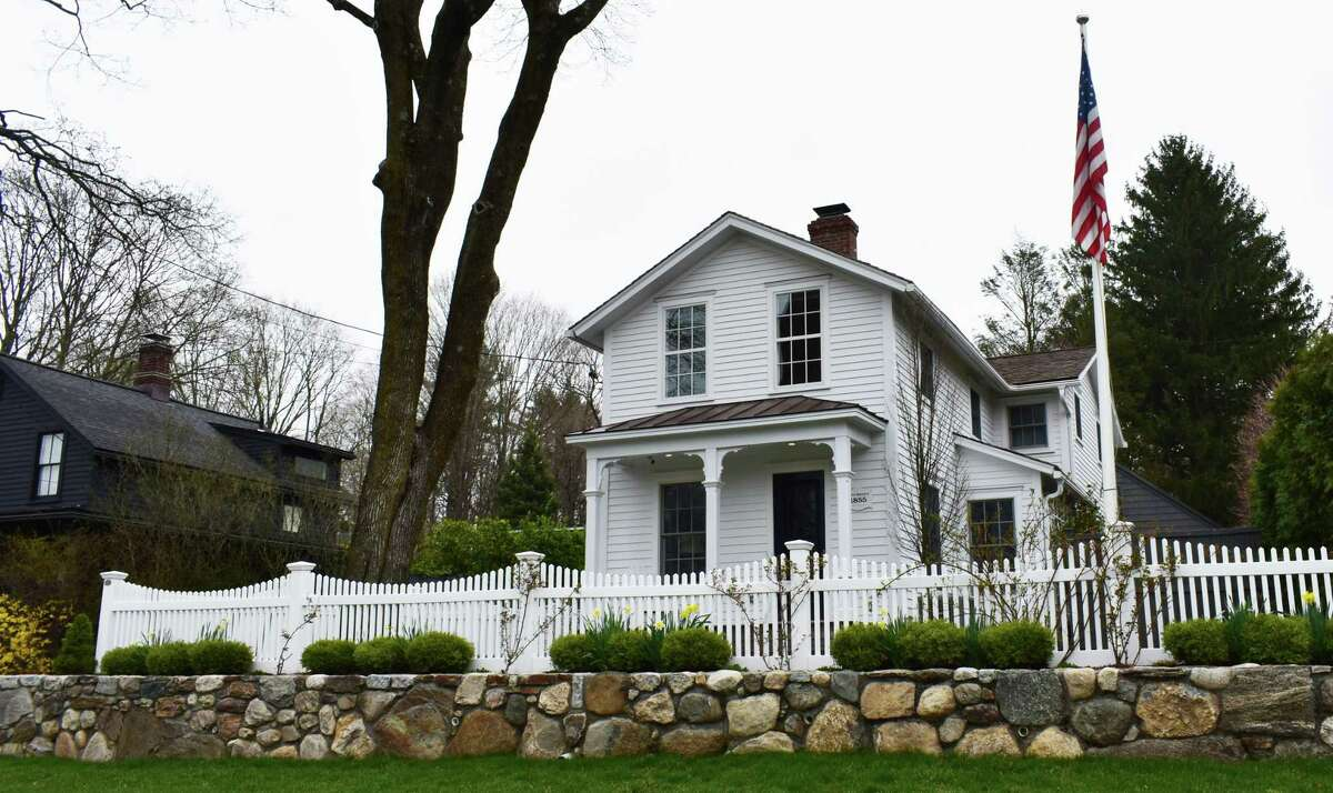 A home on Compo Road South in Westport, Conn., purchased for just over $1.7 million on April 6, 2021, nearly $28,000 above the price of the median home sold in the first quarter of 2021. Westport's median home sale price for 2020 came about $2,000 short of the record $1.36 million price set in 2007.