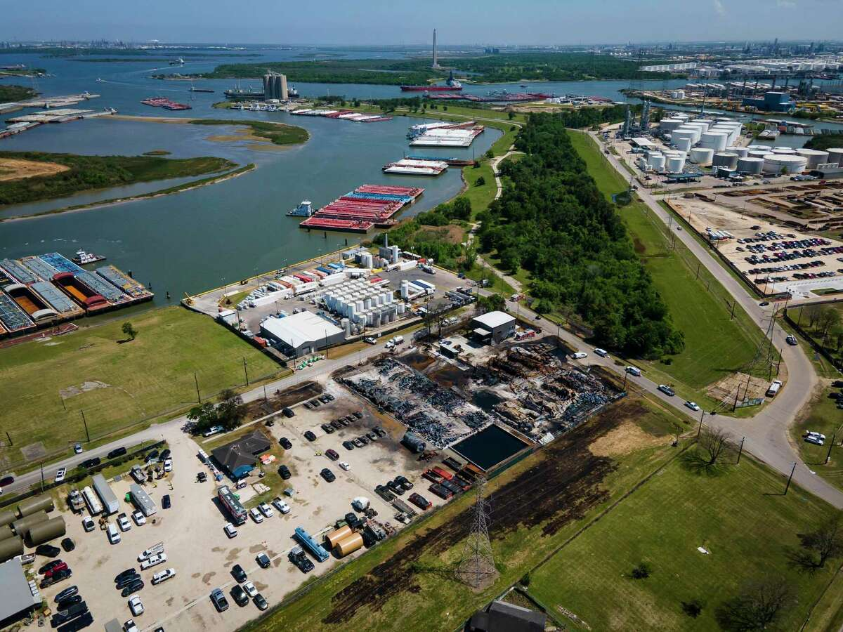 An investigation into what caused a chemical fire at the K-Solv chemical facility in ongoing, Thursday, April 8, 2021, in Channelview.