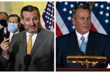 Texas Sen. Ted Cruz hit back at criticism from former House Speaker John Boehner.