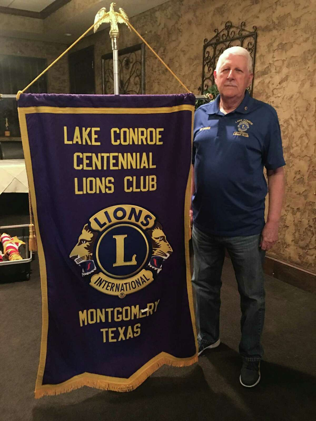 """Lake Conroe Centennial Lions Club welcomed Lion Art Drouin as speaker at the last general meeting where he presented a program entitled """"Lions 101."""" He is pictured here at Rex Steak House."""