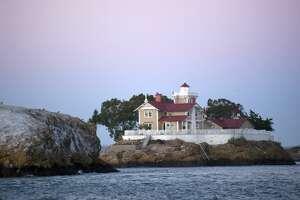 East Brother Lighthouse in San Francisco Bay near Richmond, California.