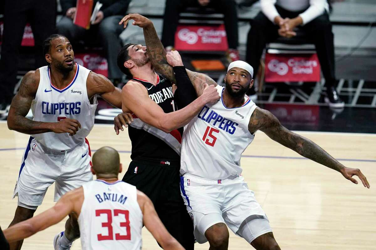 Former Rocket DeMarcus Cousins (15) is trying to find a fit with the Clippers after getting his release in Houston.