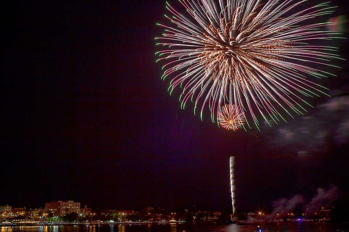 Middletown's Fourth of July fireworks are seen in 2017. The fireworks festival scheduled for Sept. 4 was cancelled due to rising coronavirus cases.