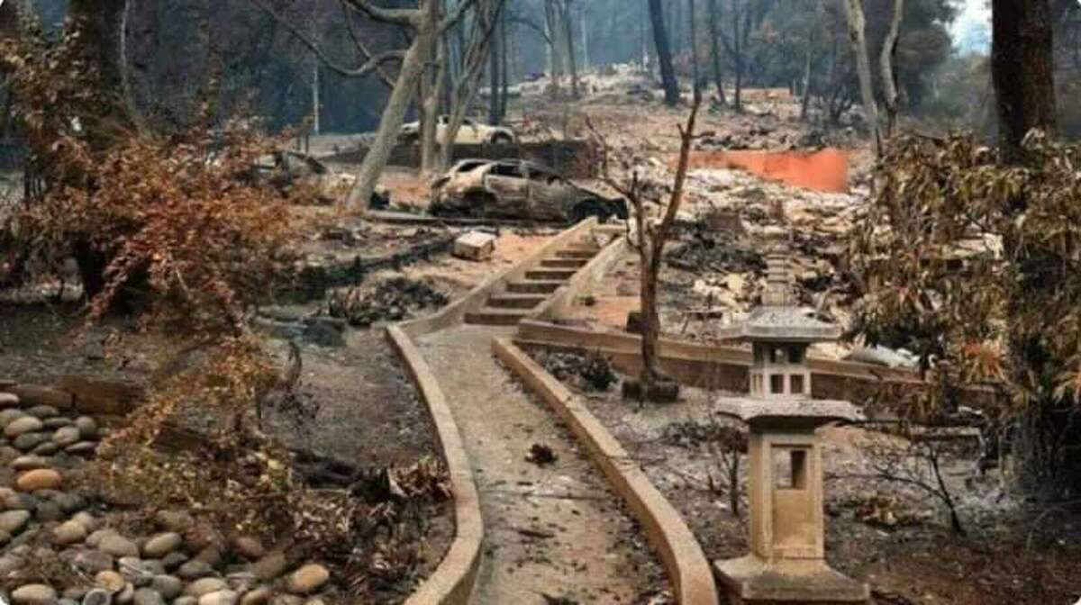 What remained of Jenny Wu's home after the fires came through.