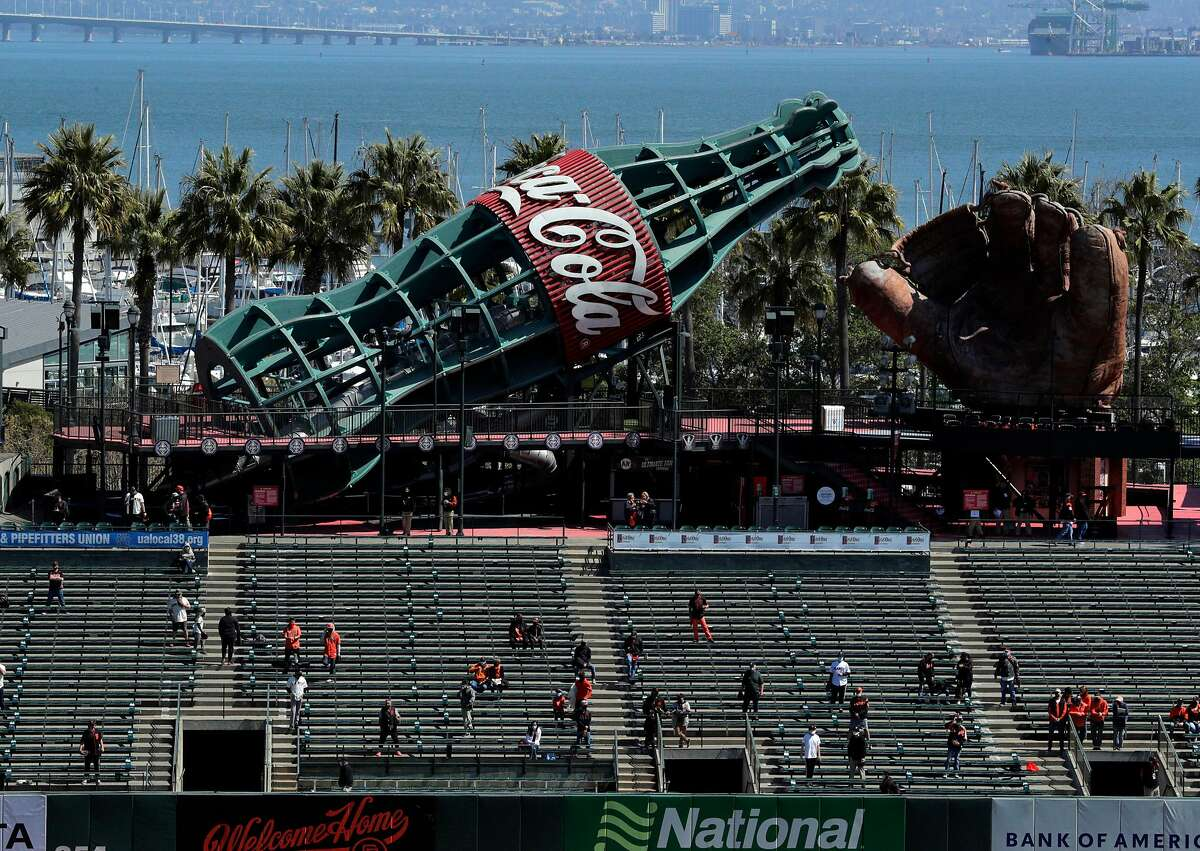 A total of 7,390 fans filtered into the bleachers for the Giants' home opener, a 3-1 win against the Rockies.
