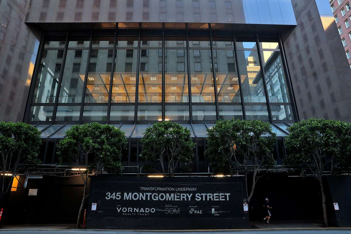 Former President Donald Trump owns 30% of the building at 345 Montgomery St. in San Francisco.