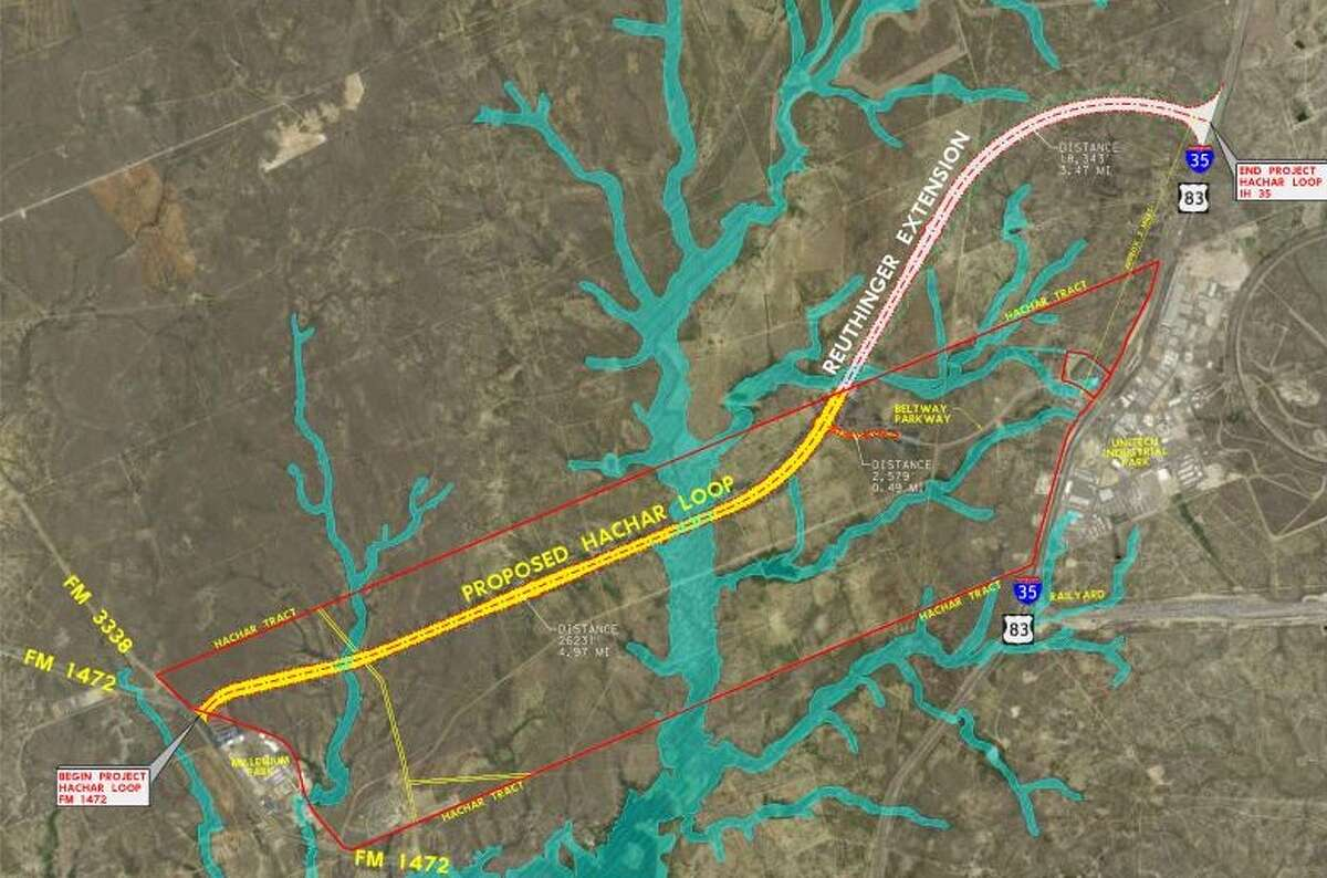 The future Hachar-Reuthinger Road will run about eight miles between FM 1472 and I-35, providing an alternate route for truck drivers to reach the interstate.