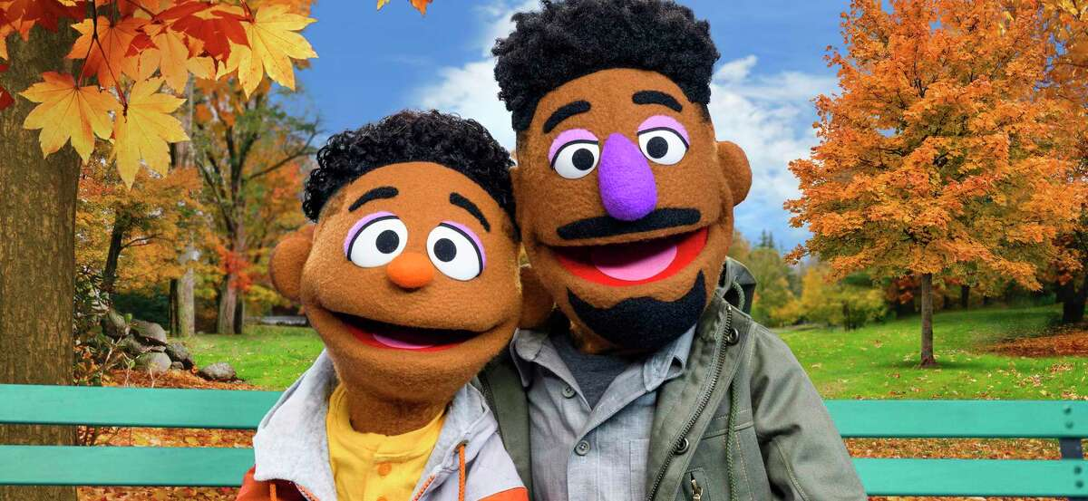 """Two new """"Sesame Street"""" muppets, Wes and Elijah, star in videos as part of the show's new initiative """"The ABCs of Racial Literacy."""" Wes (left) is played by San Antonian Bradley Freeman Jr."""