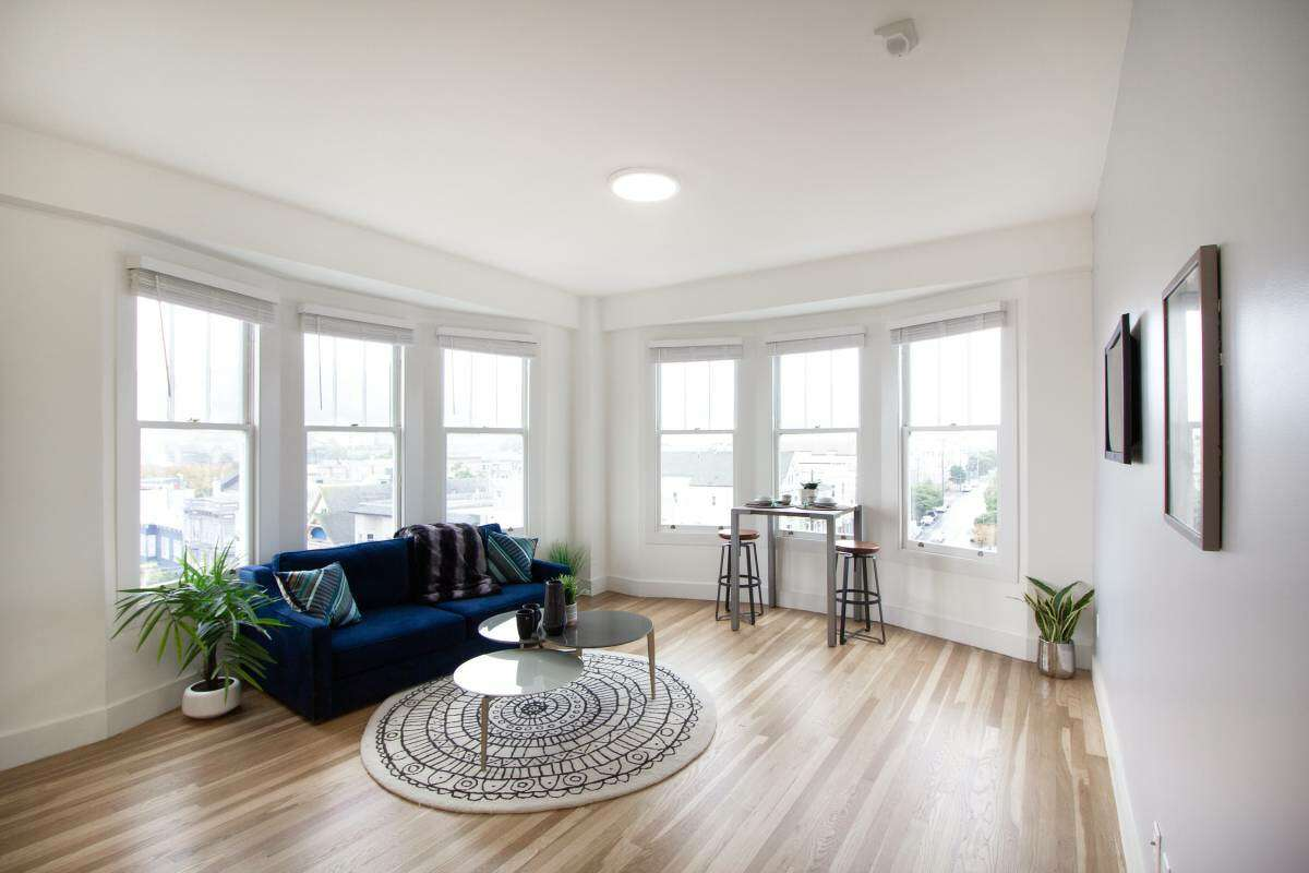It's a cookie-cutter apartment renovation and everything looks brand new.