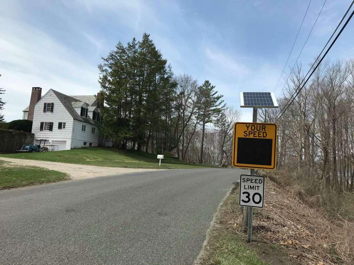 Calkinson Road speed sign in Sharon