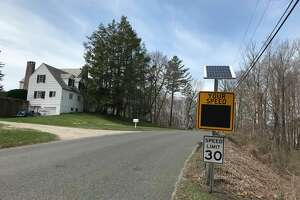 Calkinson Road speed sign in Sharon