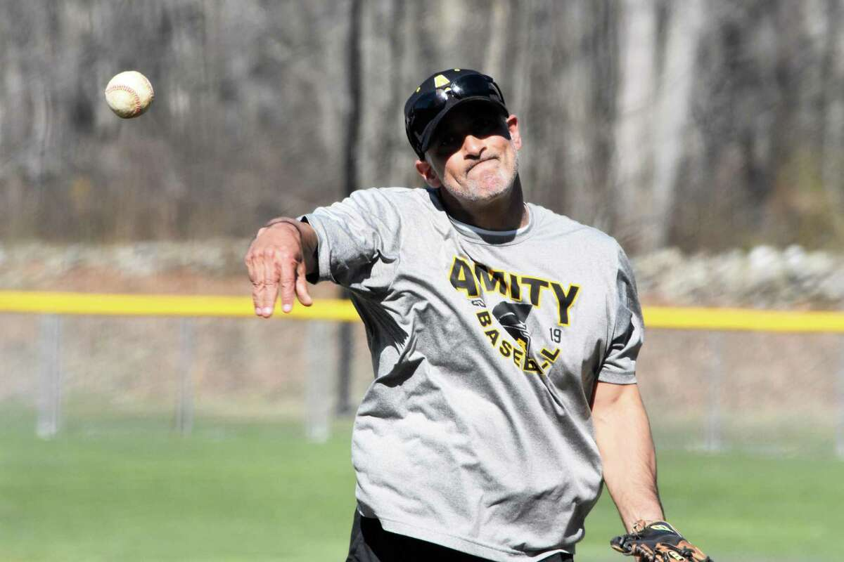 Amity coach Sal Coppola is one of a number of coaches to use games for his players to compete in during practice to foster teamwork and competitiveness.