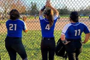Fairfield Ludlowe softball practices ahead of its 2021 season opener.