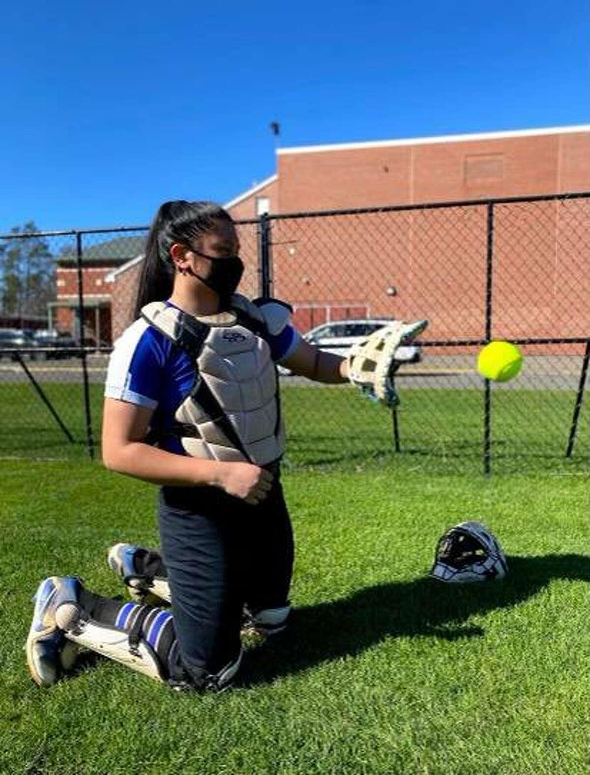 Fairfield Ludlowe senior softball captain Caitlyn Romero.