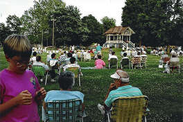 One of Pilot Club of Jacksonville's most popular events is its Concerts in the Park series in Community Park. Musicians from the area perform at the park's big gazebo while residents bring their lawn chairs or blankets and a picnic and enjoy a Sunday evening of free music.
