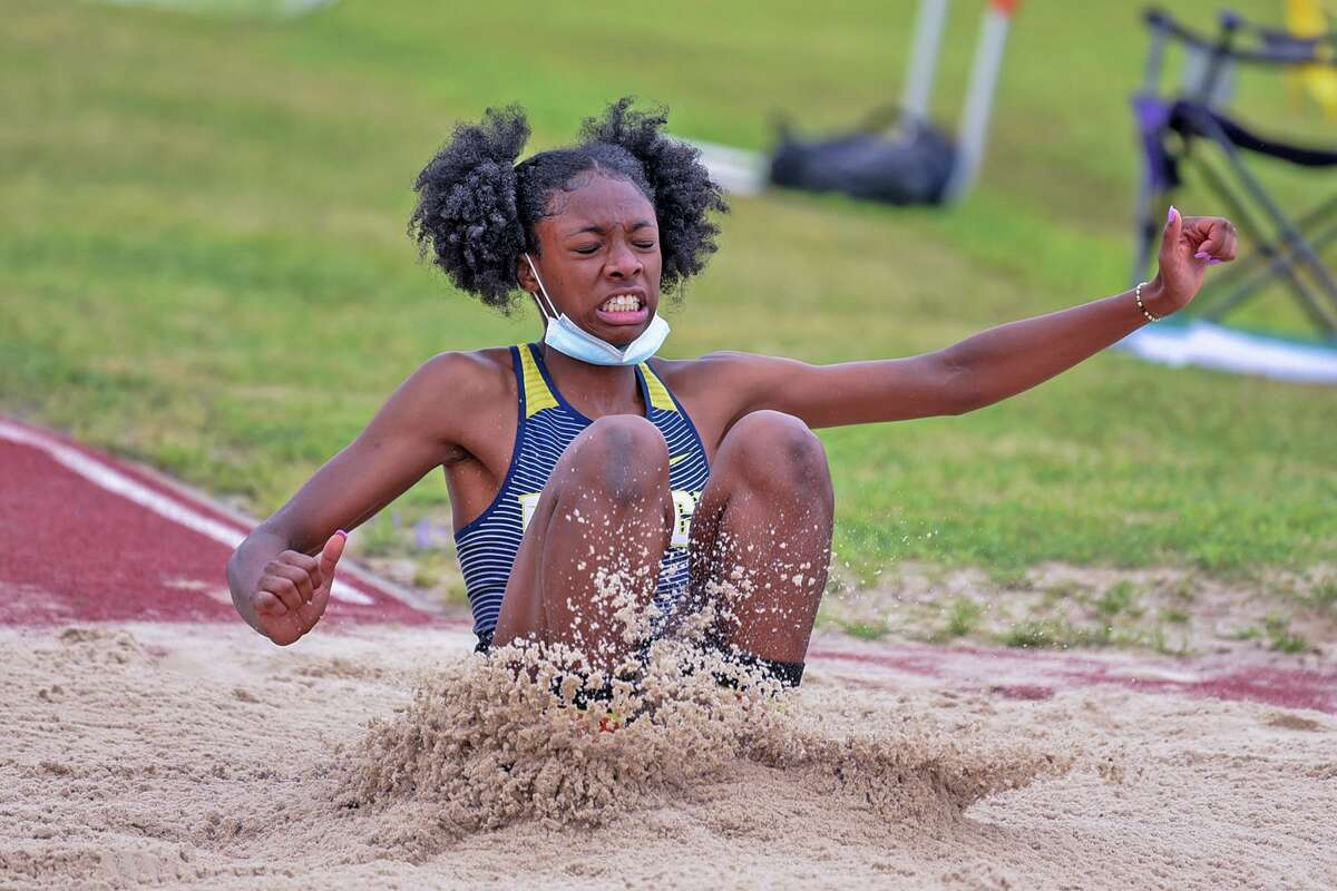 Cy Ranch sophomore Camryn Clark helped the Mustangs claim a second-place finish during the District 16-6A Track and Field Championships which took place at Bridgeland High School on March 31 and April 1.