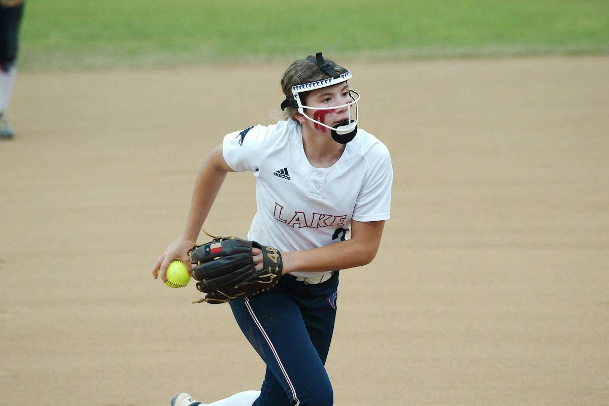 Clear Lake's Addy Prasifka (3) pitches against Clear Creek Friday, Apr. 9 at Clear Lake High School.