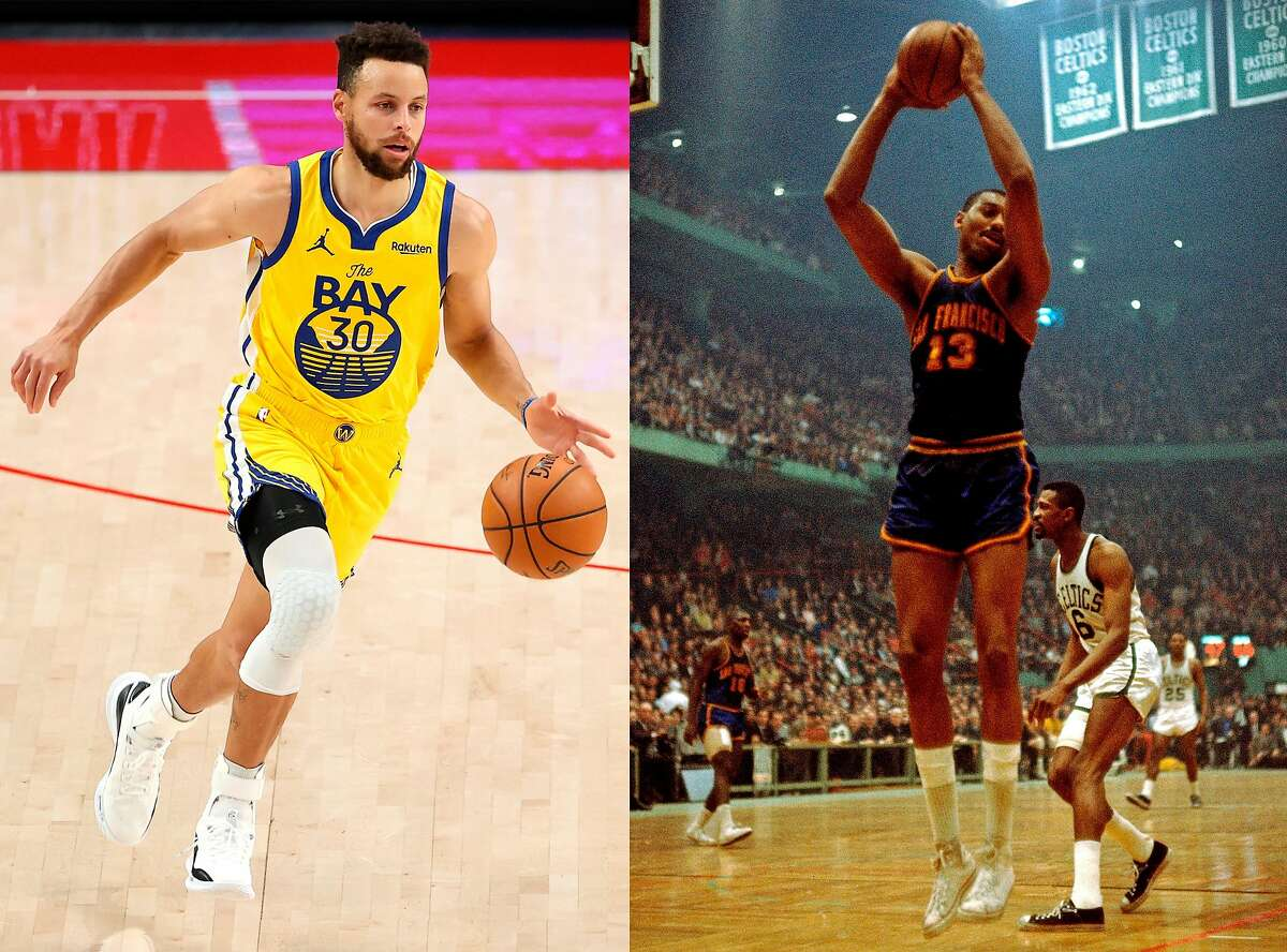 Stephen Curry is approaching Wilt Chamberlain's Warriors scoring record, but despite their link in franchise history, they and their styles of play could not have been more different.