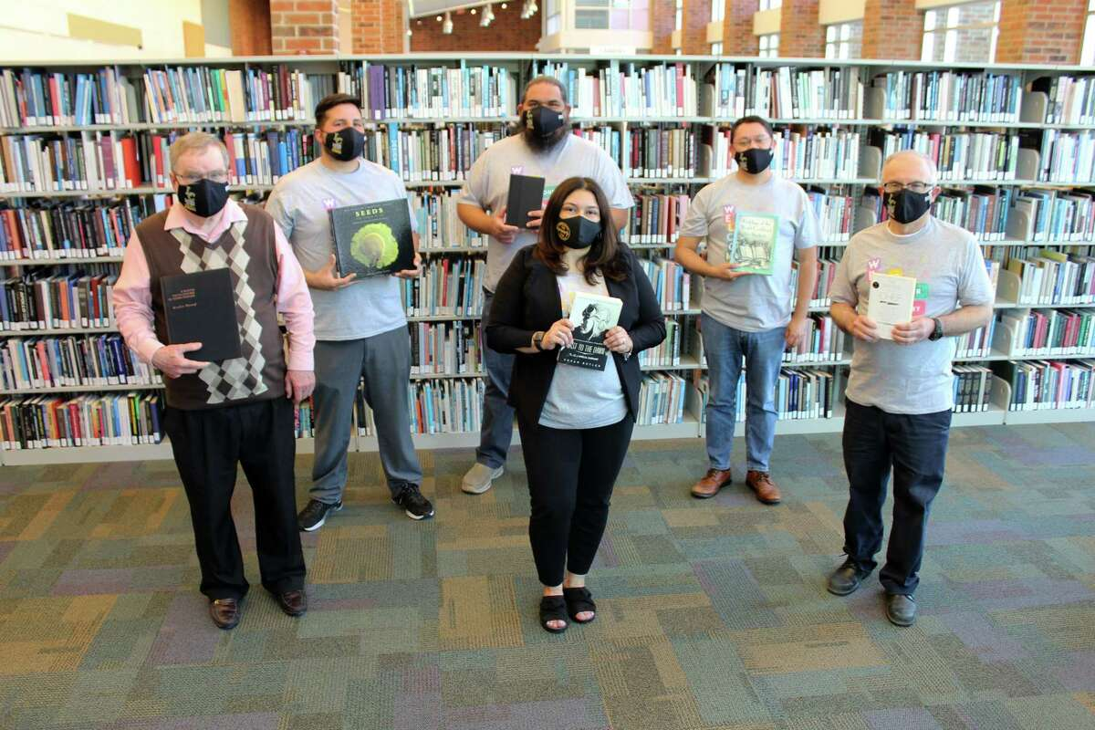 Members of Laredo College's South Campus library are pictured. The college is joining librarians across the country to celebrate National Library Week.
