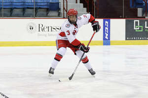 Hannah Price is a sophomore on the RPI women's hockey team. As a freshman she was named to the ECAC Hockey All-Academic team. (Liz Brady / RPI)