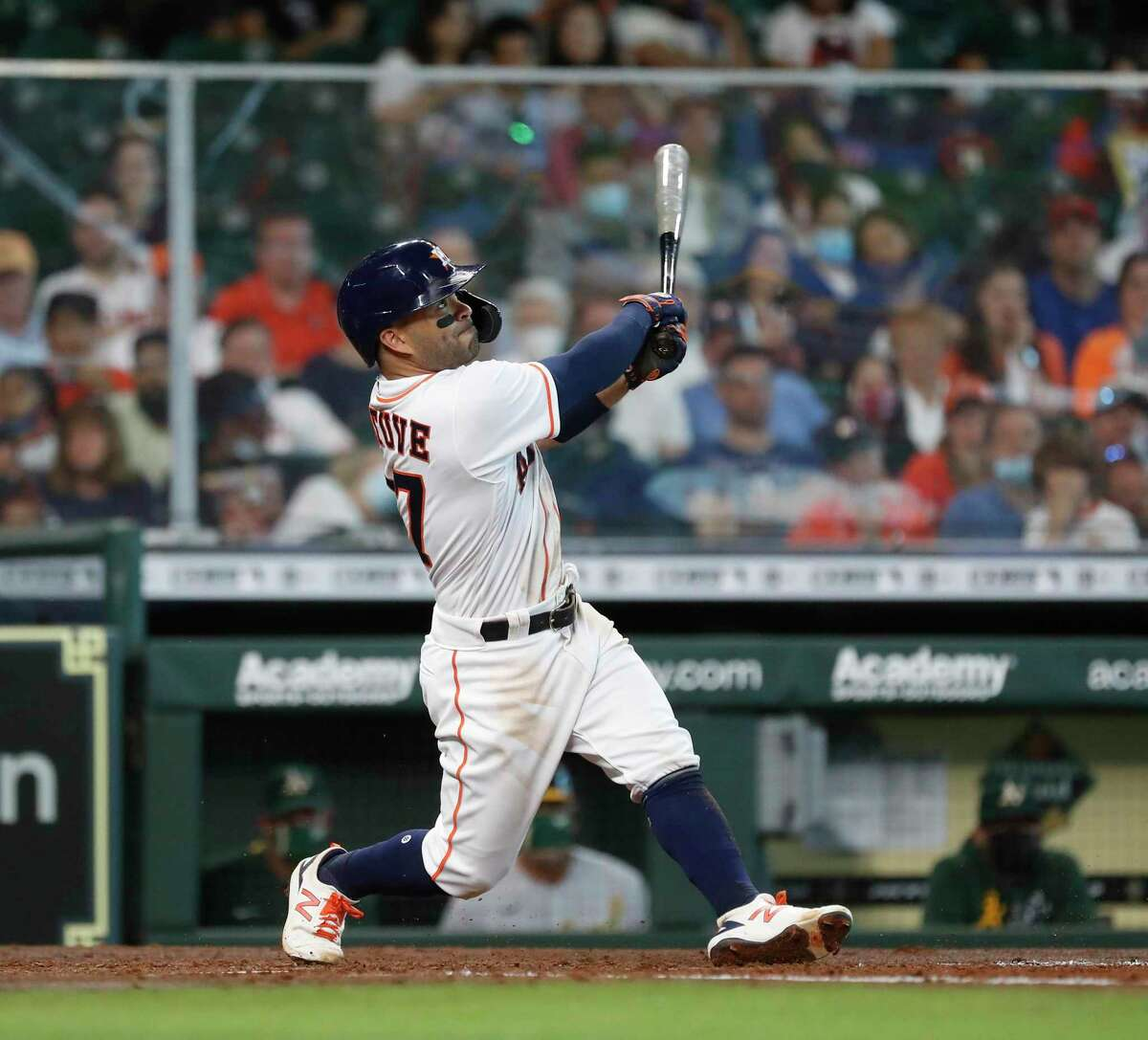 Ten days into the baseball season, leadoff hitter Jose Altuve is hitting .351 for the Astros, while former leadoff hitter George Springer has yet to play a game for the Blue Jays because of injuries.