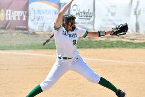 Pitcher Erin Trevio is 18-0 as a pitcher with an 0.92 ERA for the undefeated and third-ranked Floydada softball team.